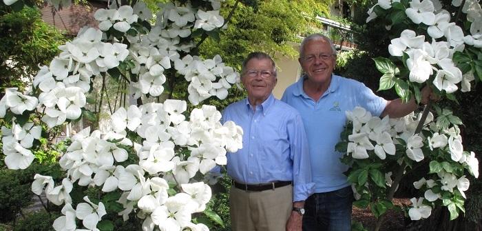 Züchter Dr. Elwin Orton und ehemaliger Vermarkter Wolfgang Eberts(by W. Eberts)